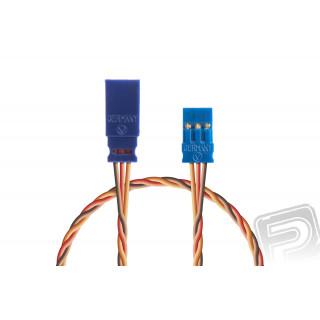 Prodlužovací kabel 100mm, JR 0,25qmm kroucený silikonkabel, 1 ks.