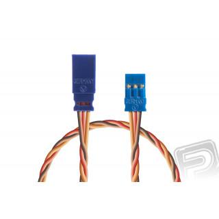 Prodlužovací kabel 500mm, JR 0,35qmm kroucený silikonkabel, 1 ks.