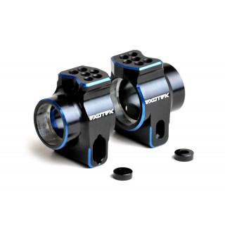 Associated B6.1 - hliníkové 7075 zadní náboje kol (modro/černé) - 1 pár