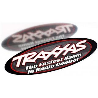 Traxxas - kétoldalú ovális matrica, 23x8cm