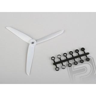 Vrtule GWS EP 7x3,5 šedá 3-listá (levotočivá)