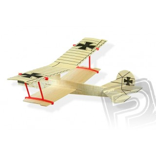 Biplane Glider 305mm - dvouplošné házedlo Fokker D.VII