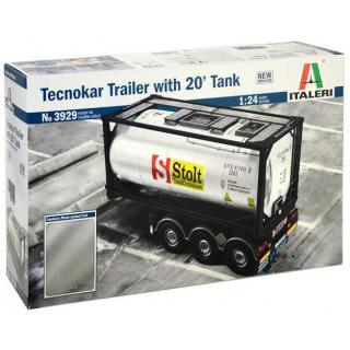 Model Kit návěs 3929 - TECNOKAR TRAILER WITH 20' TANK (1:24)