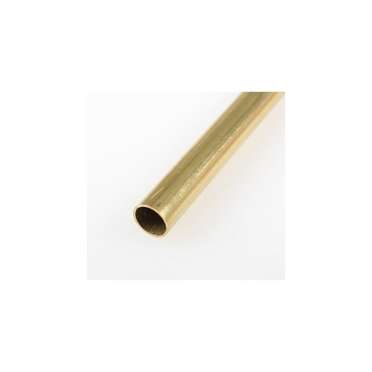 Mosazná trubička, tvrdá 9,0/8,1 mm