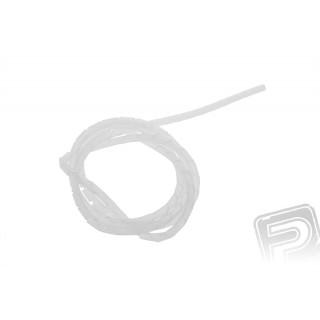 Kábel spirál burkolat 5x3,7 mm transzparens 1m
