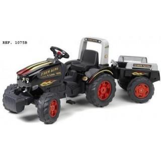 FALK - Šlapací traktor Farm King s vlečkou