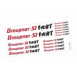 GRAUPNER/SJ a HOTT nálepky, arch 21x10cm