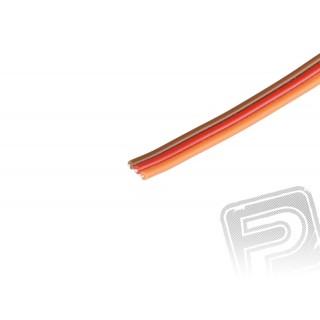 Háromeres, lapos, vastag kábel  JR 0.25mm2