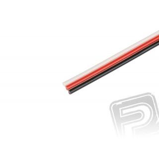 Háromeres, lapos, vastag FU 0.25mm2 kábel