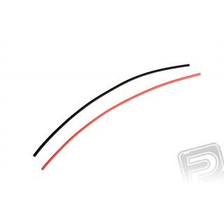 Zsugorcső kábelekhez piros és fekete 2,0 mm (25 cm)