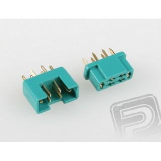 7925/5 MPX csatlakozó - zöld, 5 pár