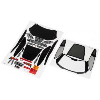 Traxxas samolepky: Chevrolet Corvette Z06