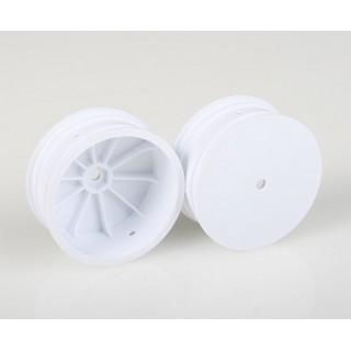 Přední disky bílé pro 4WD (HEX 10 mm) - 2 ks