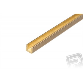 Sárgaréz profil, U, 2x2mm, 33cm x 5db