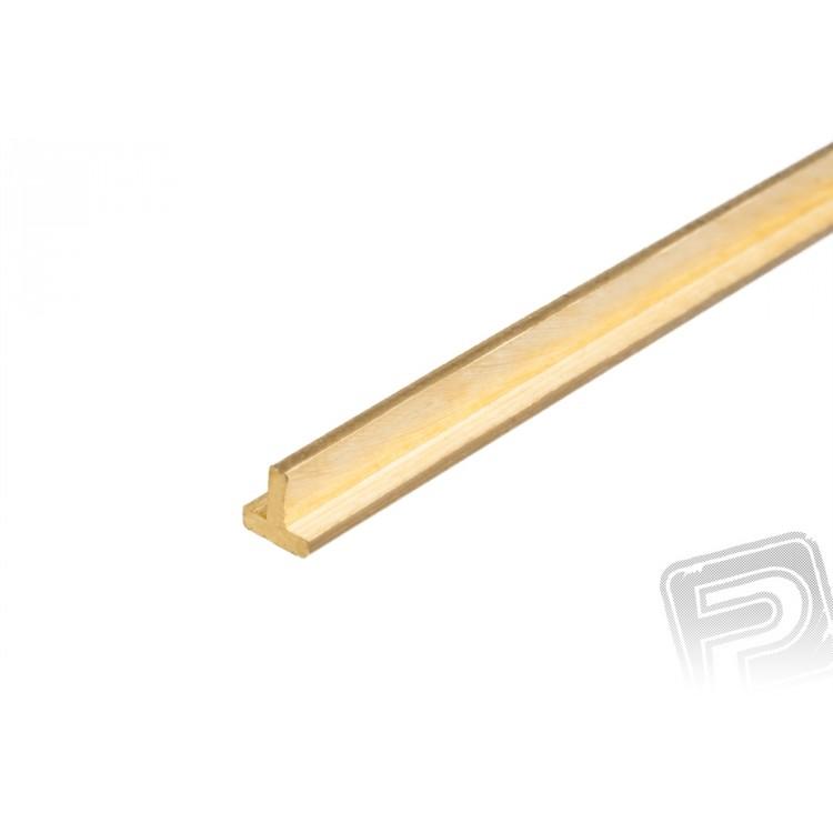 Mosazný profil, T, 2x2mm, 1m