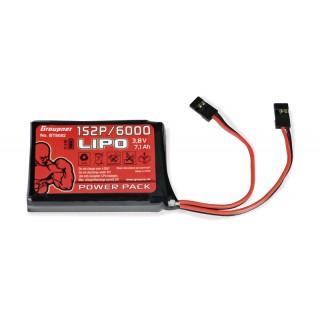 Vysílačový pack, LiPo 1S2P/6000 3,8V TX, 27Wh