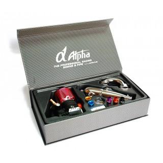 ALPHA A352 .23 5+2 csatornás Off Road Competition belső égésű motor (3,77ccm) - Combo szett