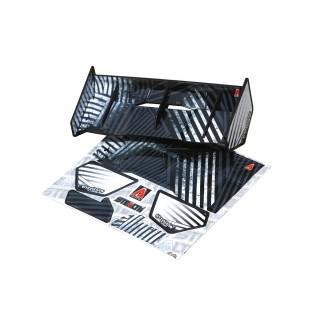 Stealth křídlo černé pro 1/8 buggy/truggy