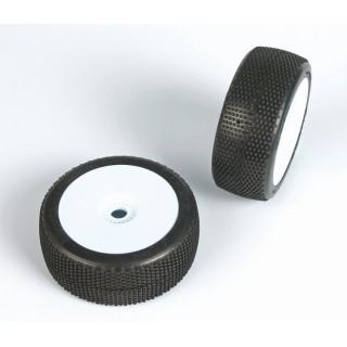 CUBEZ (soft směs) Off-Road 1:8 Buggy gumy nalep. na bílých disk. (2ks.)