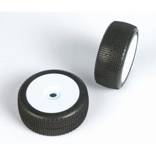 CUBEZ (super soft směs) Off-Road 1:8 Buggy gumy nalep. na bílých disk. (2ks.)
