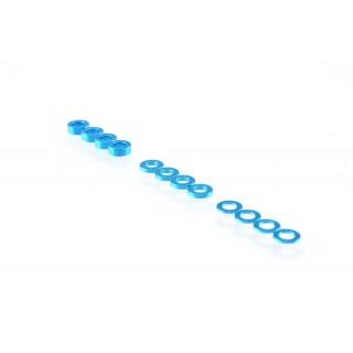 3mm alátét szett, kék (0.5mm/1.0mm/2.0mm)