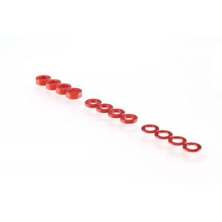 3mm alátét szett, piros (0.5mm/1.0mm/2.0mm)
