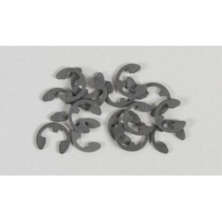 Ocelové pojistné segrovky (éčka), 4mm, 15ks.