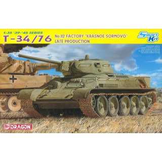 """Model Kit tank 6479 - T-34/76 No.112 FACTORY """"KRASNOE SORMOVO"""" LATE PRODUCTION (SMART KIT) (1:35)"""