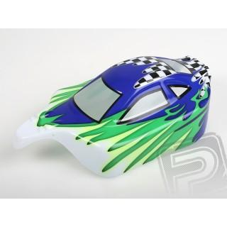 Himoto Buggy lakkozott karosszéria 1:10 (kék-zöld-fehér)