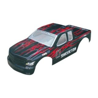 Karosszéria Monster Truck 1:5, fekete-piros