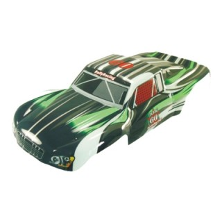Karosszéria Short Course truck 1:5 fekete-zöld