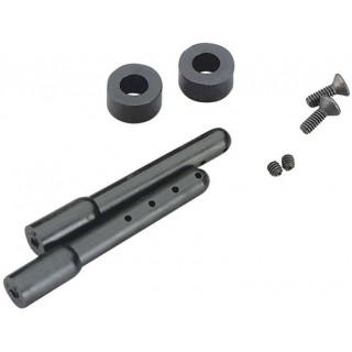 Duratrax Sloupky karosérie 50mm černé (2)