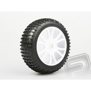 Nalepené gumy na bílých diskách (2ks.) - HIMOTO