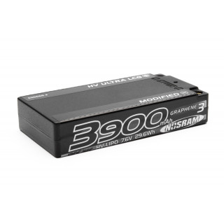 HV Ultra LCG Modified Shorty GRAPHENE-3 3900mAh Hardcase Akku - 7.6V LiPo - 120C/60C