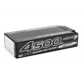HV LCG Modified Shorty GRAPHENE-3 4500mAh Hardcase Akku - 7.6V LiPo - 120C/60C