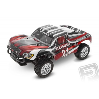 HIMOTO Short Course 1/10 scale RTR 4WD 2,4GHz - piros