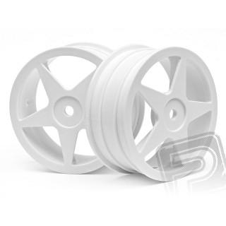 Felni, 5 küllős fehér (60x26mm/2db)