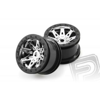 2.2 Raceline Renegade disky - 41mm (chrom/černé, 2 ks.)