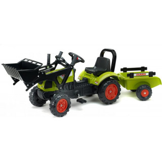 FALK - Šlapací traktor Claas Arion 410 s nakladačem a vlečkou