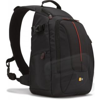 Klasszikus egyvállas hátizsák (fekete)