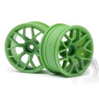 Felni 26mm zöld (6 mm offset, 2 db)