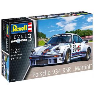 """Plastic ModelKit auto 07685 - Porsche 934 RSR """"Martini"""" (1:24)"""