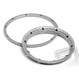 Pojistný kroužek kola, stříbrný 2ks