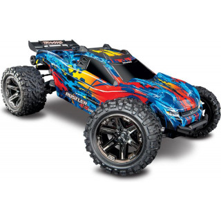 Traxxas Rustler 1:10 VXL 4WD TQi RTR piros