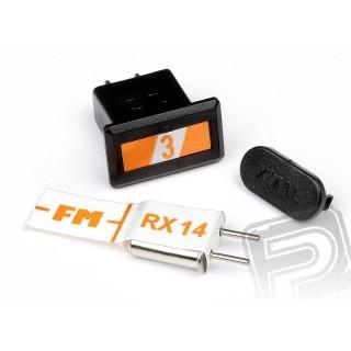 Pár krystalů FM (oranžová kanál 3/27.095MHz)