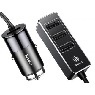 Enjoy together Four Interfaces Car Charger Black