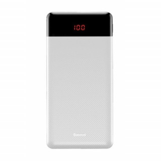 Mini Cu Digital Display Power Bank 10000mAh (White)