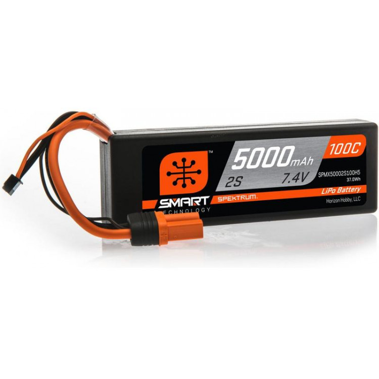 Spektrum Smart LiPo Car 7.4V 5000mAh 100C IC5