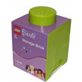 LEGO®  Friends tároló box 125x125x180mm - világoszöld LEGO® 40011742
