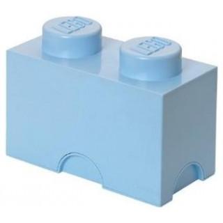 LEGO® tároló doboz 2 - 125x250x180mm - világos kék LEGO® 40021736